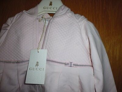 Gucci Kids - Baby   Hooded Zip  Sweatshirt / Jacket  , Age 18 Months, Pink