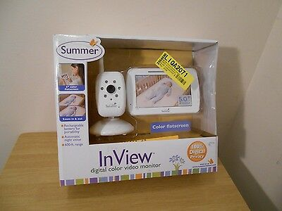 New Summer In View Digital Color Video Baby Monitor  Rechargeable Night Vision