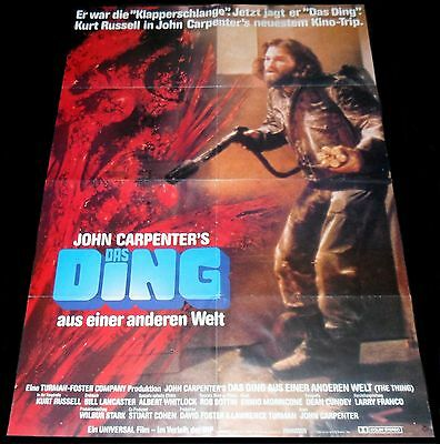 1982 The Thing ORIGINAL Germany 1SH POSTER John Carpenter SCI-FI CULT Horror