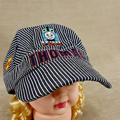 Thomas Train Conductor Kids Fitted Hat Cap Pinstripe Embroidered Fitted Elastic