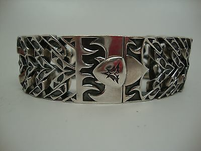 "STEPHEN WEBSTER .925 Sterling Silver Thorn Spine Bracelet 9"" 138.4 Grams"