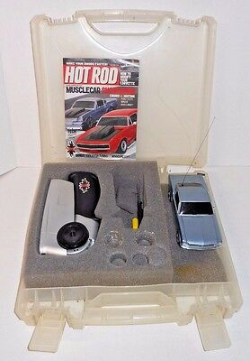 Vintage XMods HOT ROD Magazine Remote Control Mustang Fastback Car w/ Case, Book
