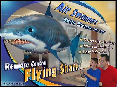 Air Swimmers Remote Control Flying Shark Helium Float Fly Balloon Toy For Kids