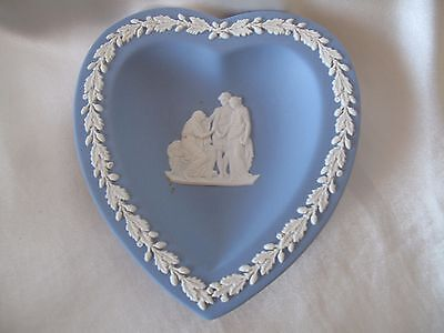 Wedgwood Heart Shape Blue Jasper Ware Pin Dish