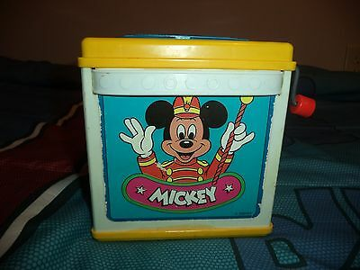 Mickey Mouse Disney Jack In The Box Mattel Vintage 1987 RARE