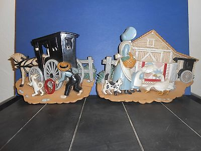 Set of two Burwood products Amish theme pictures