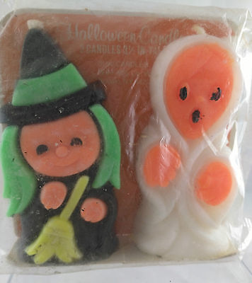 Vintage Halloween Set of Witch and Ghost Candles, Suni Candles