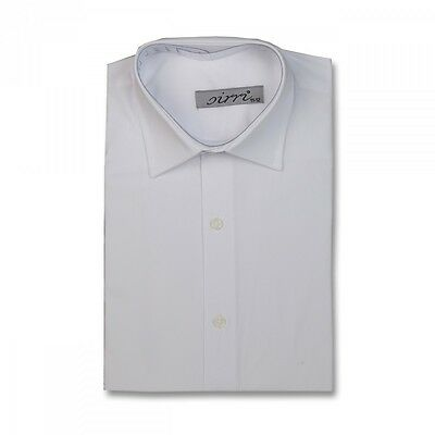 Quality Cotton Blend Boys White Suit Shirt Page Boy Wedding Formal White Shirts