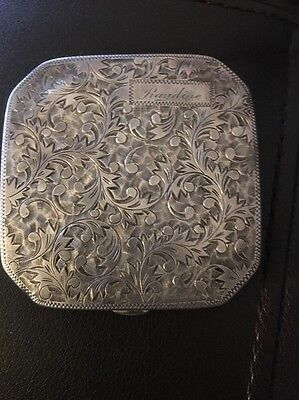 Sterling Silver Compact 1951