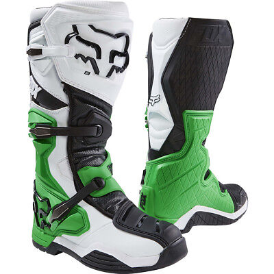 NEW Fox Racing 2017 Mx Comp 8 LE White Black Green Monster Motocross Boots