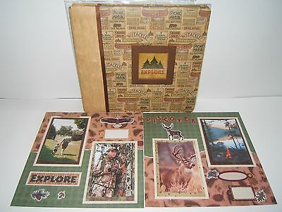 Camping Scrapbook Album 12 x12, Ready for your 4x6 photos, premade