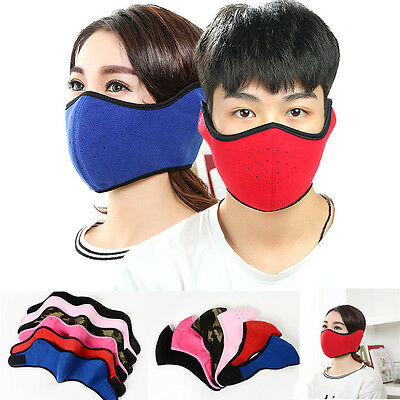 Winter Windproof Cycling Motorcycle Ski Masks Outdoor Half Face Mouth Headgear