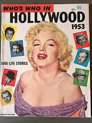 Marilyn Monroe Who's Who In Hollywood 1953 Magazine