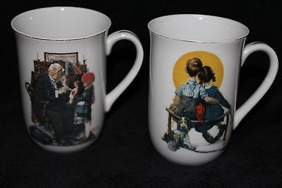 """Norman Rockwell Set of 2 Coffee Mugs """"The Saturday Evening Post Collection"""""""