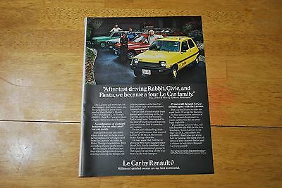 Le Car By Renault 1979 Playboy Magazine ad - Excellent