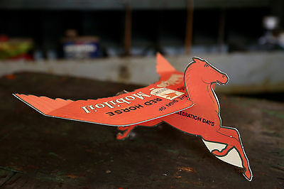 Mobil Oil Pegasus Socony Paper Sign of the Flying Red Horse Advertising Gas Oil