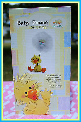 """*NEW* SUZYS ZOO BABY DUCK PICTURE FRAME HOLDS 3"""" x 3"""" PHOTO TOO ADORABLE!!"""