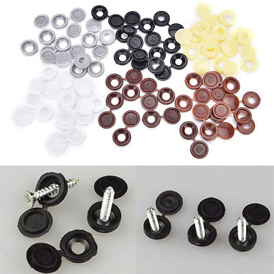 10pcs Hinged Plastic Screw Cover Fold Snap Caps For Car Home Furniture Decor