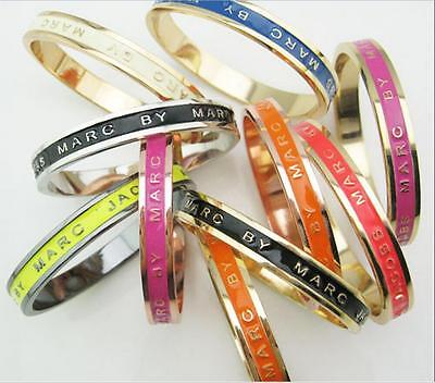 beautiful New Marc by Marc Jacobs Letters Bangle Bracelet 8 Colors