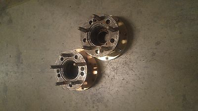 "Port Cirty Racing speedway steel hubs PCR 2"" 5 on 5 aluminum rotor plate pair"