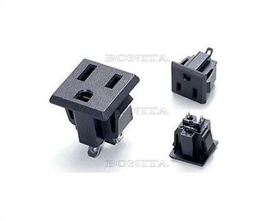 5Pcs 3Pin Ss-6B 15A/125V Jack Outlet American Ac Power Socket Ic New Develope G