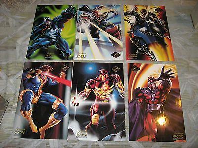 1994 Flair Marvel Annual Case Topper Flairprints Jumbo Insert 9 Card Set Lot!