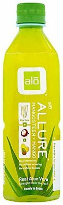 ALO Allure Aloe Vera Juice Drink, Mangosteen + Mango, 16.9 Ounce Pack of 12
