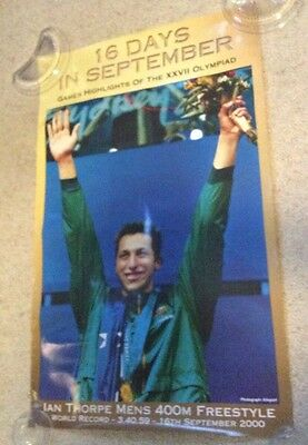 Collectable Souvenir Sydney 2000 Large Olympic Poster Of Swimmer Ian Thorpe