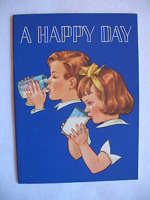 A HAPPY DAY illus by Miriam Story Hurford (1961) National Dairy Council booklet
