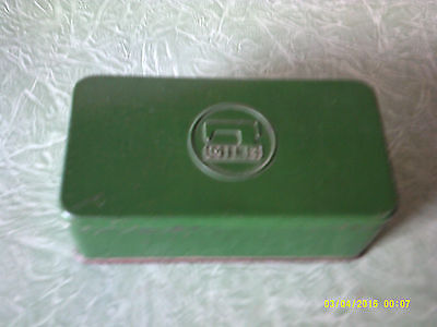 Collectable Small Green Sewing Machine Tin