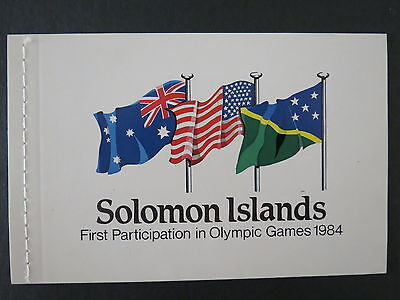 1984 Solomon Islands Booklet X 9 Stamps Olympic Game Mnh Mint Stamp More Listed
