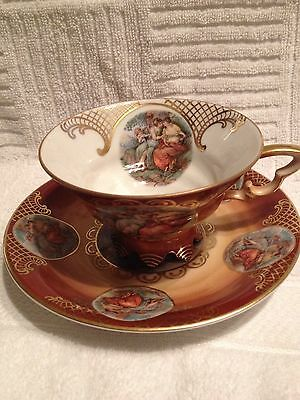 Mitterteich Barvaria Germany Nude Maidens Tea Cup & Saucer