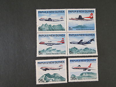 1970 305-310 179-184 Block Plane X 6 Papua New Guinea Mnh Mint Stamp More Listed