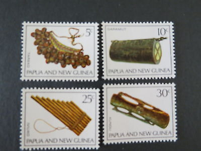 1969 Musical Instruments X 4 Papua New Guinea Mnh Mint Stamp More Listed