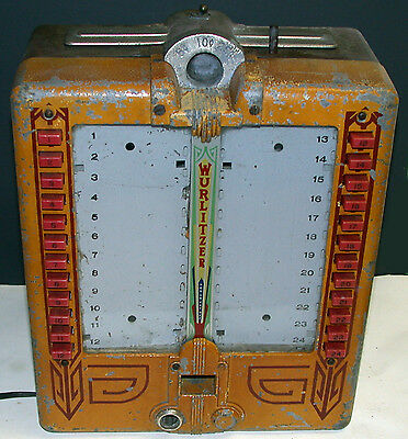 Wurlitzer 125 Golden Age Jukebox Wallbox 700 750 780 800 850 850A 950 Rare