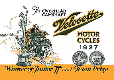 1927 Velocette motorcycles poster