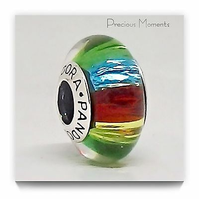 Gorgeous Genuine Pandora Rainbow Murano Glass Bead RETIRED