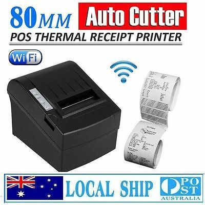 Wireless WIFI POS Thermal Receipt Printer 80mm 300mm/s Auto Cutter+Paper Roll AU