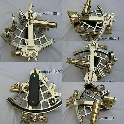 """9"""" Solid Brass Sextant Nautical Vintage Working Instrument Astrolabe Ships Item."""