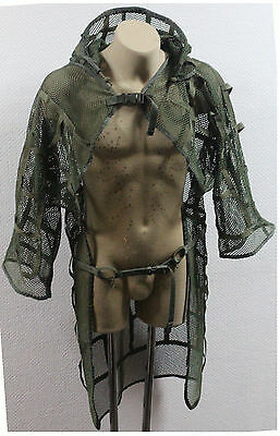 Russian Spetsnaz Milspec Mesh Disguise Cape Sniper Cloak OD Green