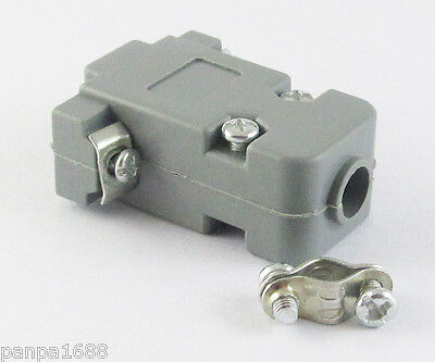 10sets Grey D-Sub DB9 9Pin Plastic Hood Cover for 9 Pin 15 Pin D-Sub Connector