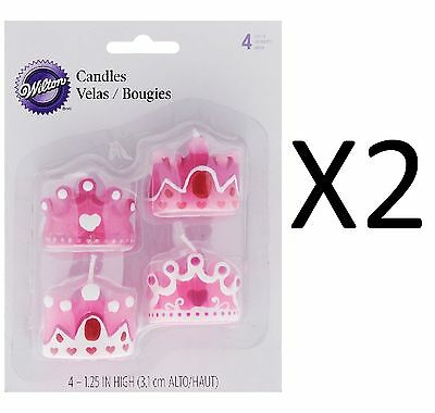 "Wilton Princess Party Candle Birthday Girl Cupcake Cake 1 1/2"" X 1 1/2"" (2-Pack)"