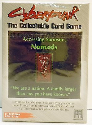 Cyberpunk Starter Deck CCG 2003 Nomads by R Talsorian Games Card New Sealed