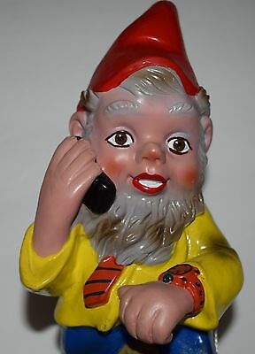Vintage PVC  Heissner Gnome Working Working Holding Telephone