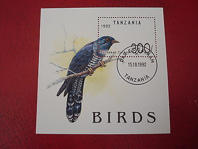 Tanzania - 1992 Birds - Minisheet - Unmounted Used -  Ex Condition