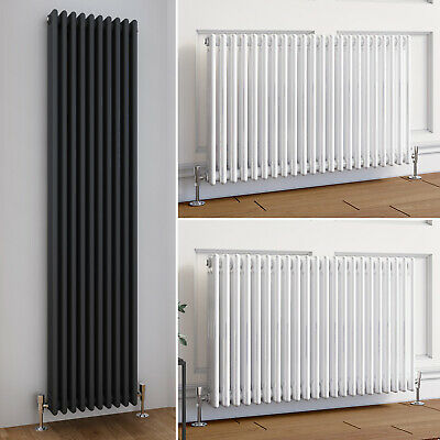 Traditional Column Radiator Horizontal Vertical Mild Steel Style Central Heating