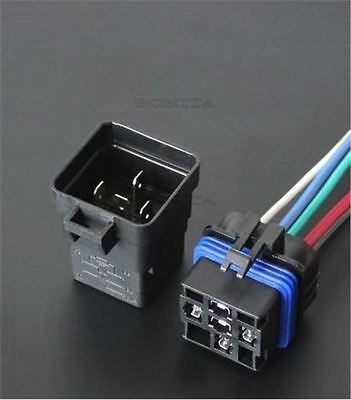 1Pcs Auto Relay/Socket Waterproof Integrated Automobile Relay 12V Dc 40A 5Pin F
