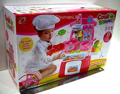 Toys Cook happy Kitchen Play Set 22pcs with Lights & Sound, Battery Operated