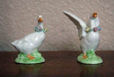 Treasure Masters Set of Collectible White Ducks Geese Figurines