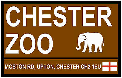 Street / Road Signs (Chester Zoo) - Souvenir Novelty Fridge Magnet / New / Gifts